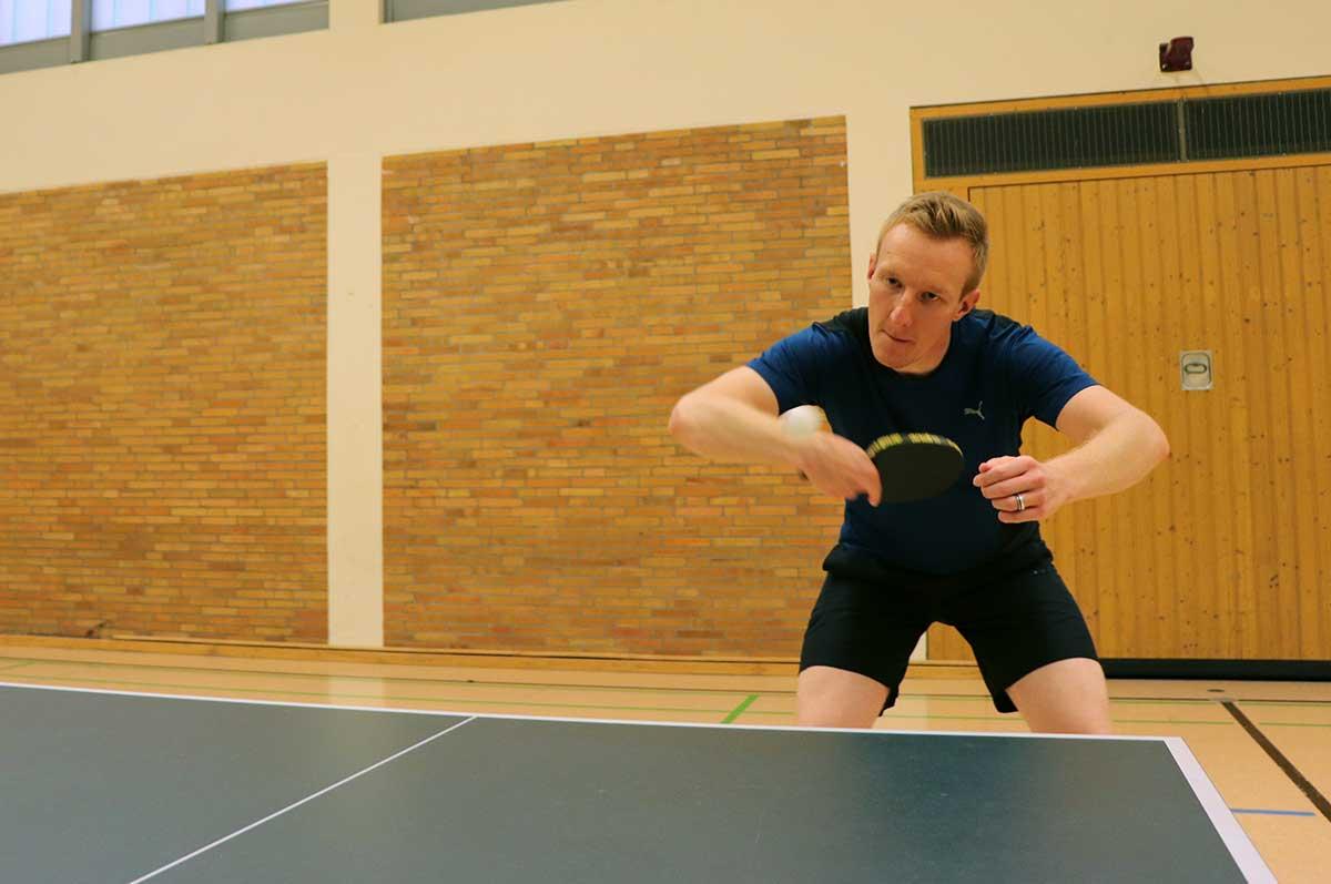 Tischtennistraining des FC Brünninghausen