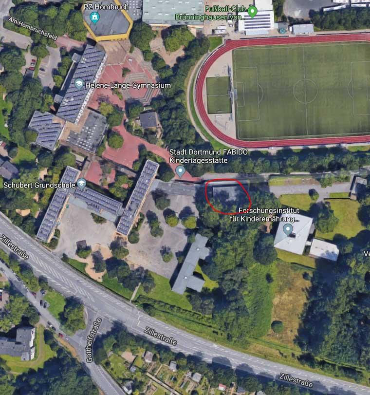 Turnhalle des FC-Brünninghausen, Google Maps
