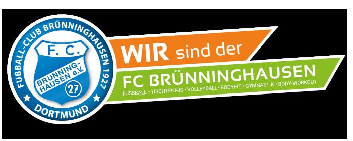 """Logo """"Wir sind der FC Brünninghausen"""" mit allen Sportabteilungen"""