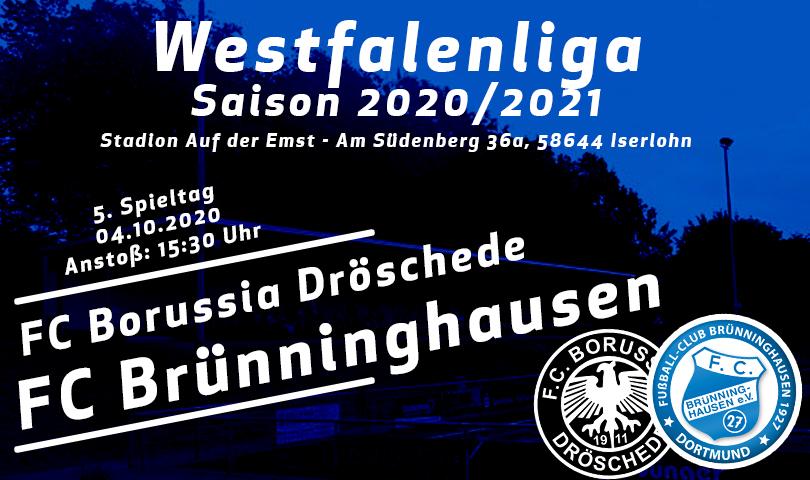 Spieltagsposter Borussia Dröschede - FC Brünninghausen