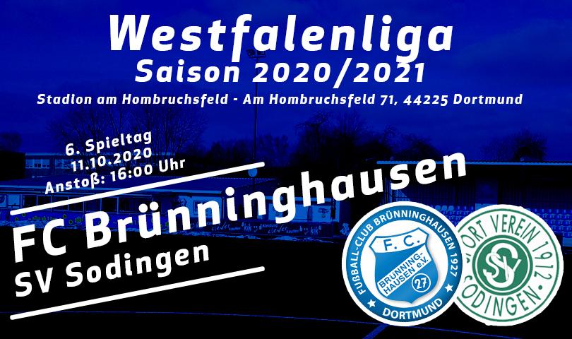 Spieltagsposter FC Brünninghausen - SV Sodingen