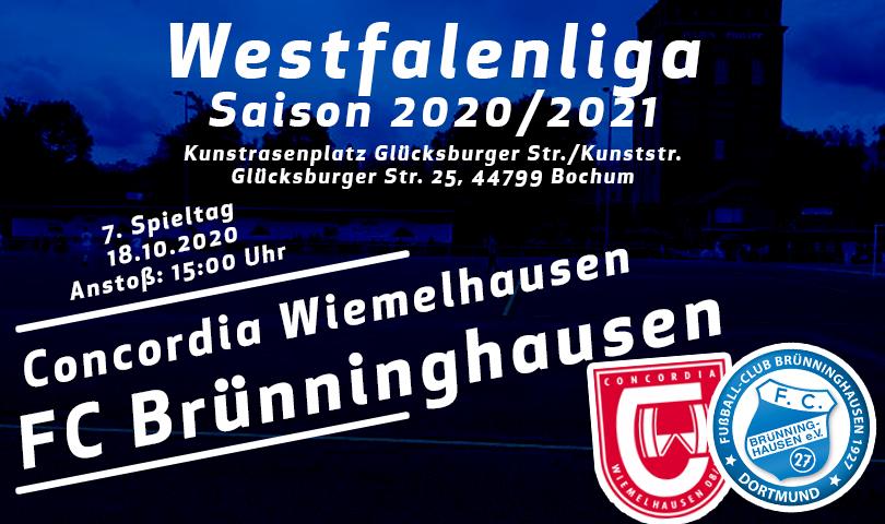 Spieltagsposter SC Concordia Wiemelhausen - FC Brünninghausen