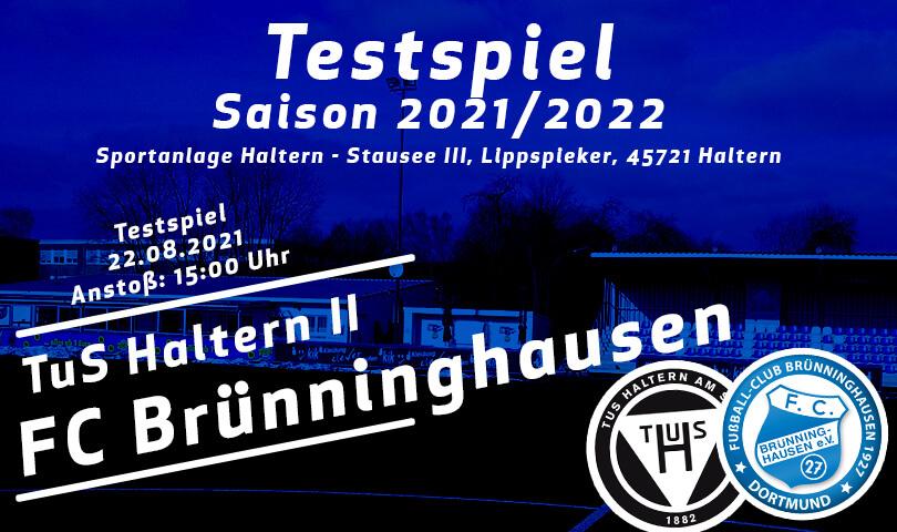 Testspiel TuS Haltern II - FC Brünninghausen